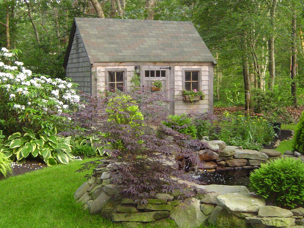Fairytale-garden-shed-in-an-obscured-place